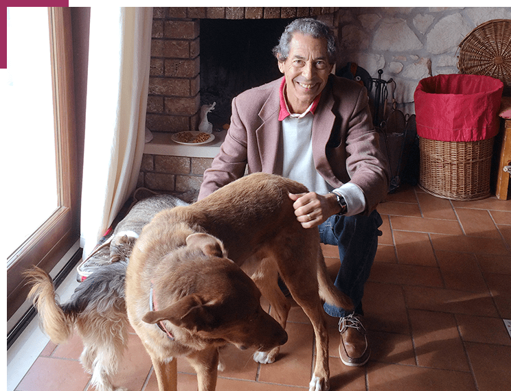 Dr Giuseppe Ferraro and his beloved pet